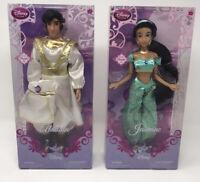 Disney Store Aladdin and Jasmine Dolls Disney Princess Collection 12 Inches HTF