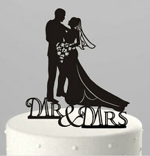 Mr and Mrs Bride and Groom Cake Topper, Wedding Cake Decorations, USA