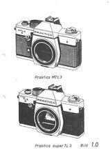 Praktica MTL 3 und super TL3 Reparaturanleitung und Stückliste  ( 717 )