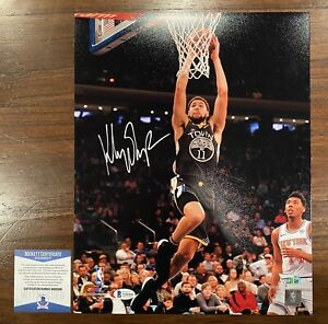 Klay Thompson Autographed 11x14 Photo Golden State Warriors Beckett Fanatics 7