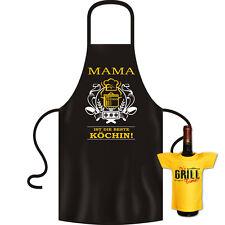 Geschenkset Mutter Kochschürze + Mini Flaschenshirt - Top Geschenk Schürze Mama