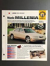"1993 >  Mazda Millenia Sedan IMP ""Hot Cars"" Spec Sheet Folder Brochure Awesome"