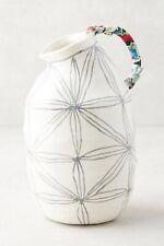 NWT Anthropologie ANNA WESTERLUND Grey Star Keramisk Cloth Stoneware Vase Pot