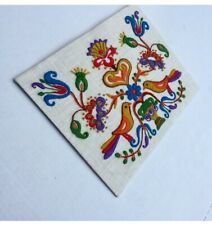 Vintage Birds Of Paradise Crewel Embroidery Picture Finished Boho