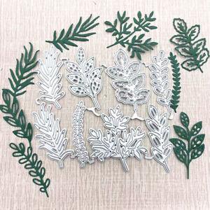 8pcs flower leaves metal cutting dies Scrapbook Craft Dies Greeting Cards making