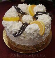 Decorativo Artificiale Torta con Cioccolato e Limoni Sahnetorte Dummy 15cm