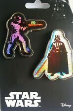 More details for uk disney star wars pins pin set - darth vader / stormtrooper *new*