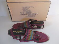 Eric Javits Dalia Burgundy Patent Leather Wedge NIB $220 6