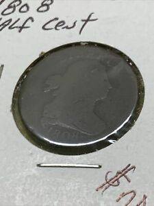 1808 Half Cent 1/2¢- Large Coin