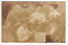 RPPC - Photographer and his Female Workers taking orders - - Kodak Camera - 1910