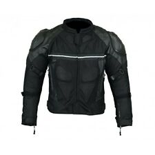 Motorcycle Air Mesh Jacket Weather Resistant with External Armor Black