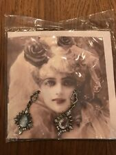 Sepia Vintage Style Greeting Card Bnwt Topshop Diamonte Earrings With