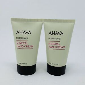 2X Ahava MINERAL HAND CREAM Deadsea Water 1.3 oz /40 ml Each