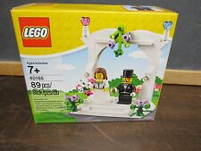 LEGO 40165 Wedding Bride Gown Groom Tux Party Favor Arch Building toy Minifigs