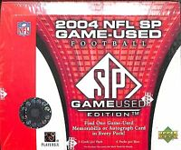 2004 Upper Deck SP Game Used Football Sealed Hobby Box