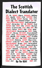 Scottish Dialect Tea Towel 100% Cotton - Idea Gift - Joke - Secret Santa