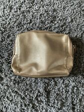 M&S Gold PU Leather Make-Up Cosmetics Toiletry Purse Bag MARKS &SPENCER