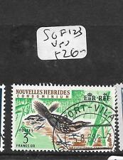 NEW HEBRIDES FRENCH   (P0506B)  3 FR BIRD  SG F123   VFU