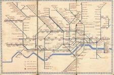 LONDON UNDERGROUND tube plan map diagram. Northern Heights SCHLEGER/ZERO #1 1941