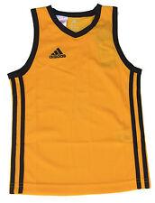 adidas Boys Sports Vest Y Commander J Basketball Jersey Athletic Gold/Black 5