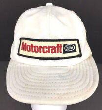 4332968fadc Vintage Ford Hat Motorcraft Cap Patch Snapback Mesh Logo Trucker Baseball  White
