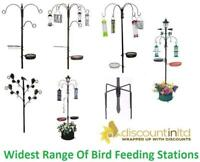Deluxe Traditional Bird Feeding Station With Feeders Premium Wild Feed Solar