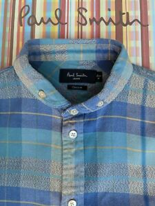 CHECKED Shirt by PAUL SMITH - Size Medium - Fabulously Detailed, Cool & Stylish