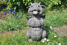 Süsser Gartendrache Treudoof, lieb bettelnd Drache Drachenfiguren Garten Deko