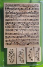 Stampin up large music sheet rubber stamp 2000 and smaller stamps 2002