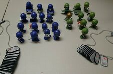 Awesome Little Green Men Lot With Blue Army Figures And Accessories
