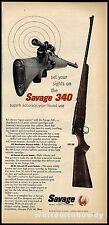 1956 SAVAGE Model 340 Bolt Action Repeating Rifle PRINT AD Gun Advertising*