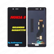 DISPLAY LCD+TOUCH SCREEN per NOKIA 8 N8 NERO TA-1012 TA-1004 VETRO SCHERMO NUOVO