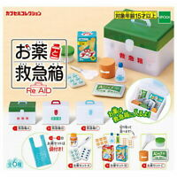 Epoch Toys Capsule Gashapon First and Aid Box Medication Full Set 6 pieces