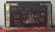 Brass Bound Ammo Box Old Style Genuine British Army