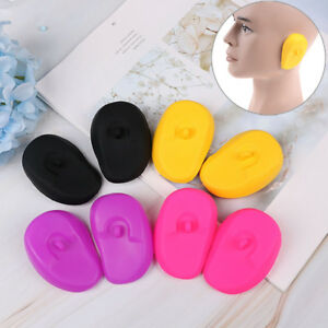 2Pcs Reusable silicone ear cover hair salon dye color shield protector earmuO`US