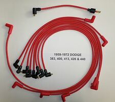 Big Block Dodge 1959-1972 383-400-413-426-440 RED Spark Plug Wires-POINTS USA