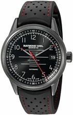 Raymond Weil Men's 'Freelancer Pilot' Swiss Automatic Stainless Steel and Rubber