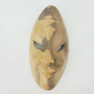 Hand Carved Wood Mask Comedy and Tragedy Decor