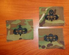 U.S. ARMY parachute BADGE, 3 COMBAT JUMP STAR CLOTH ON MULTICAM, SET OF 3