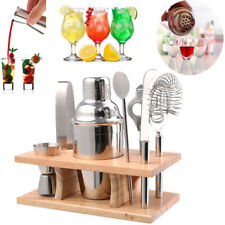 5PCS Cocktail Shaker Mixer Drink Bartender Martini Tools Bar Set Stainless Steel