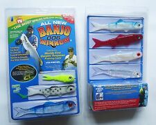 New 110 Pieces Banjo 006 Minnow Fishing System Soft Plastic Fishing Lures Set