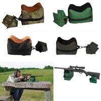 Portable Shooting Range Sand Bag Set Rifle Bench Rest Stand Front & Rear Bag