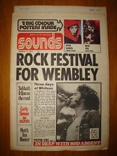 SOUNDS 1973 MAR 17 WHO ROGER DALTREY + GABRIEL POSTER