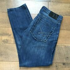 WILLIAM RAST Mens DISTRESSED TAPER JEANS Button Fly Blue Denim Size 31x30