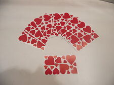 20 SHEETS OF HEART STICKERS