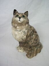 Rare Beswick Grey Swiss Roll Pattern Persian Cat No1867 by Albert Hallam