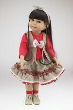 """18""""fashion semi-soft vinyl lovely doll education toy for girls birthday"""