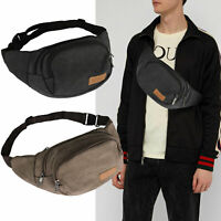 New Fanny Pack Genuine Leather Waist Bag Hip Belt Pouch Travel Purse Men Women