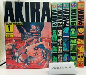 AKIRA  Japanese language Complete  Vol.1-6 set Manga Comics Katsuhiko Otomo