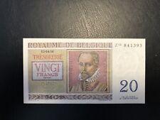 1956 Belgium 20 Francs Banknote